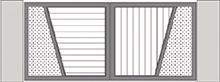 Composition 4 du portail alu Vinzelles